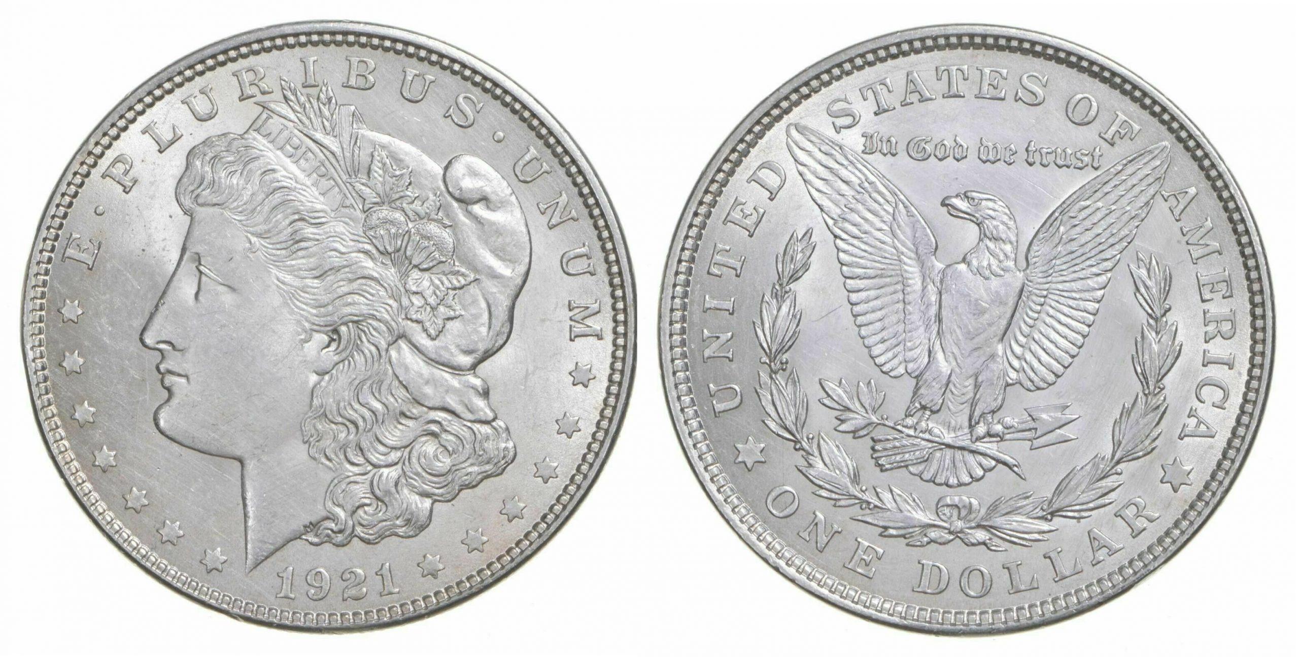 1921_Morgan_Silver_Dollars_AU - coin shop in lutz